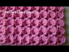 Punto conchiglie in rilievo lavorazione diritta all'uncinetto tutorial - YouTube