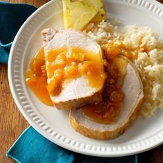 Hawaiian Pork Roast with Pineapple Recipe -This is one of my favorite slow cooker recipes. It's wonderful with rice or potatoes and any vegetable. It also reheats well for lunch the next day. —Ruth Chiarenza La Vale, Maryland