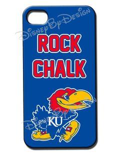 Kansas Jayhawk  iPhone 4 or 4s Hard Case  KU by disneybydesign, $24.95