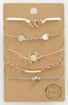 Topshop 'Pretty' Bracelets (Set of 5) available at #Nordstrom