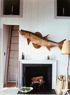 I would like a house that absolutely requires a fish over the mantle.  Steven Gambrel.