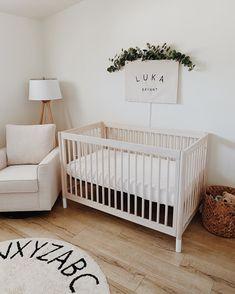 Wood Nursery, Baby Nursery Neutral, Nursery Furniture, Nursery Room, Neutral Nurseries, Girl Nursery, Nursery Decor, Bedroom Decor, Baby Milestone Cards