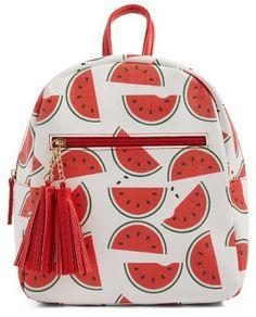 Watermelon and Tassels Backpack. Cute, fun and summery #ad #watermelon #backback
