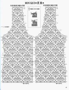 Captivating Crochet a Bodycon Dress Top Ideas. Dazzling Crochet a Bodycon Dress Top Ideas. Débardeurs Au Crochet, Gilet Crochet, Crochet Shirt, Crochet Jacket, Freeform Crochet, Crochet Diagram, Crochet Cardigan, Crochet Stitches, Crochet Patterns
