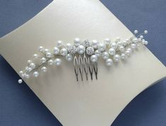 Pearl Hair Comb Bridal Hair Piece Silver Hair Comb Pearl Accessories Bridal Beaded Comb Pearl Headpiece Wedding Headwear Hair Accessories