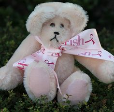 """Mohair Bears!10 1/2"""" light pink mohair with pink suede paws, fully jointed, English mohair."""