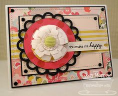 Such a happy card!! I love the flower!!!