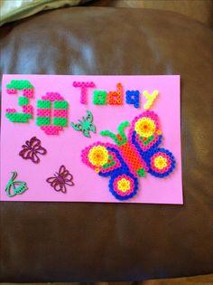 30th birthday card by Elyza for mummy.