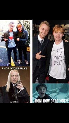 Image about harry potter in No muggles here 💜😂😍 by Dora Harry Potter Imagines, Mundo Harry Potter, Harry Potter Icons, Harry Potter Feels, Draco Harry Potter, Harry Potter World, Draco Malfoy, Drarry, Harry Potter Funny Pictures