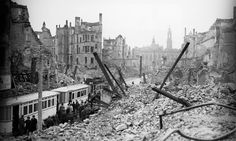Dresden after the devastating British bombing campaign of February 1945. 'The purpose was simple: to kill civilians, to destroy cities and to crush German morale.' Don't leave Dresden out of the story. According to The Guardian remembering wartime events remains important. But Britain's 70th anniversary narrative must include the morally tough stuff too. Seventy years ago on Friday, British planes bombed Dresden in the most overwhelming and destructive raid of the second world war. The ...