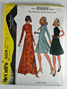 Vintage McCall's 3370 Sewing Pattern Copyright 1972 by MadeByMame, $9.00