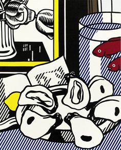 Roy Lichtenstein, Still Life with Oysters, Fish in a Bowl and Book, 1973