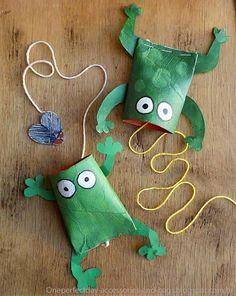 Mais 10 ideias de brinquedos com rolo de papel higiênico - sapo