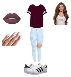 """""""Untitled #13"""" by gabriellecute ❤ liked on Polyvore featuring adidas Originals, Victoria's Secret PINK and Lime Crime"""