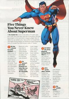 Five things you never knew about superman