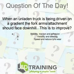 Forklift question of the day 4 from http://ift.tt/1HvuLik #forklift #training #safety #jobsearch