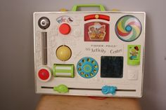 Vintage Fisher Price activity center, our family had one and it made it through all of us. How cute to see again!