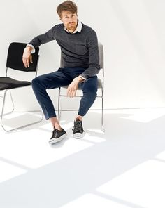 DEC '14 Style Guide: J.Crew men's cashmere pocket sweater.
