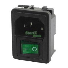 Для Монтажа в панель Зеленый Rocker Switch 3 Pin Plug Power Розетка 250В 10A купить на AliExpress