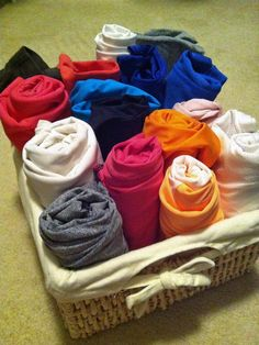 For my scarves  Repurposing Household Items for Closet Organization : Rooms : Home & Garden Television
