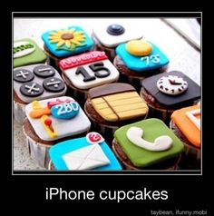 iPhone cupcakes are epic!!!!!!!