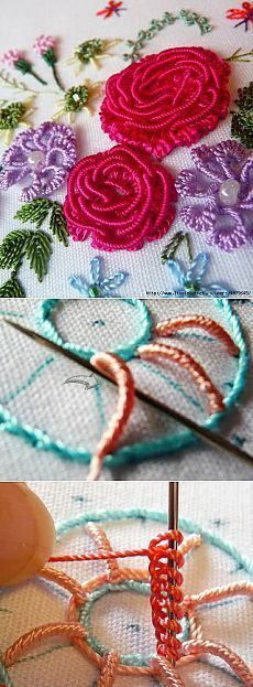 Brazilian embroidery.  Stunningly beautiful!  | Skilful hands                                                                                                                                                                                 More