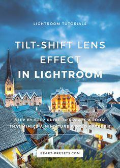 Tilt-shift lenses effect in Lightroom. Step by step guide + free Lightroom preset tutorial + from Lightroom Workflow, Lightroom Tutorial, Photoshop Tips, Photoshop Photography, Photography Tutorials, Photography Tips, Outdoor Photography, Tilt Shift Photography, Tips