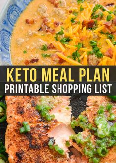 This week's keto meal plan includes 5 DELICIOUS low-carb meals--All under 6 net carbs! Even better: I included a bonus keto snack to enjoy while watching a movie or football game! Net carb counts, serving amounts, AND a printable grocery shopping list included.