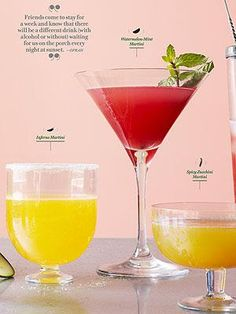 Oprah Winfrey shares one of her favorite, freshest cocktails -- a watermelon mint martini! http://www.people.com/people/article/0,,20708165,00.html