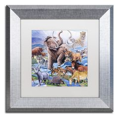 Trademark Art 'Ice Age Color' by Jenny Newland Framed Graphic Art Size: 1