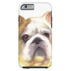 Colored Pencil Bulldog Barely There iPhone 6 Case