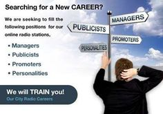 Online Social Media promoters needed, work from home. Good communication skills, computer, and internet access necessary.  www.ourcitycareers.com www.chicago.ourcityradio.com