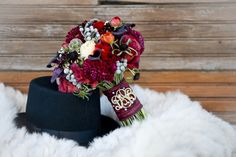 Modern Purple & Red Winter Wedding Inspiration