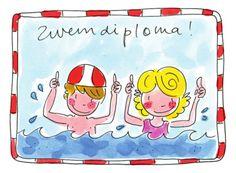 Watertrappelend jongetje en meisje- Greetz