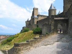 XII-XIII-XIV siècle.Carcassonne. Cité de Carcassonne,Languedoc-Roussillon,France.Castle of Carcassonne.Château de Carcassonne.