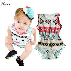 3b672c2ee006 Infant Babies Girl Cute Print Floral Bodysuit one pieces Outfits