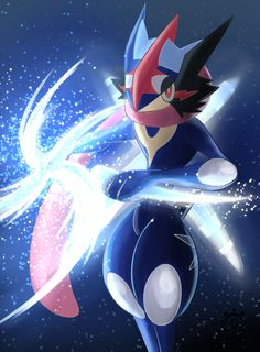 The brand new form of Ash's Greninja in Pokemon XY & Z He's SO COOOOL!! What do you think about him? Ash-Greninja - Pokémon from NINTENDO Art : Taiyoumaru (Ac-Solanis) -----You can FOLLOW ...
