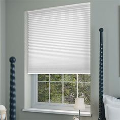 A classic combination. Contempo Pure White paired with a skinny white tape fuses luxe style with tonnes of practicality.#smartblinds #smart #blinds #smarthome #smartfashion #decor #homedecor #homeornamentation #smartbedroom #curtains #curtain #curtainsdesign. Thermal Blinds, Grey Blinds, Home Safety, Window Dressings, Smart Home, Contemporary, Modern, Design Projects, Curtains