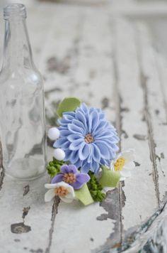 Dahlia Baby Daisy & Wildflower Felt Flower by LeaphBoutique