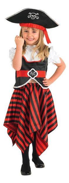 Rubie's 883620M - Disfraz de pirata para niña (5 años)
