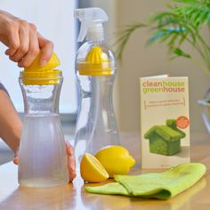 It's easy to make your own effective, eco-friendly cleaner with the Come Clean Natural Cleaning Kit.  You may have heard that lemons are nature's cleaning secret weapon. This ingenious kit includes everything you need to make your own eco-friendly, chemical-free, lemon-based cleaner. A recipe book, with over 40 cleaners, is included.