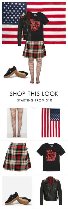"""""""Make America Punk Again"""" by seetherfan17 ❤ liked on Polyvore featuring Evergreen Enterprises, Puma and RADDAR7"""