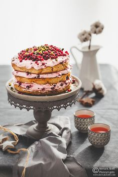 Festive Cake inspired by the Nordic Hygge LINGONBERRY LEBKUCHEN CAKE