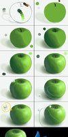 Apple tutorial by ~michan on deviantART