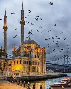 Ortaköy mosque , Istanbul, Turkey / by bus khaled ( Hazem Al Jarallah ) Istanbul City, Istanbul Travel, Places To Travel, Travel Destinations, Places To Visit, Beautiful Mosques, Beautiful Places, Turkey Photos, Mekka