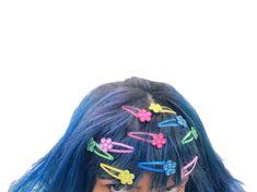 editing needs - KITSCH - editing needs barrettes - Coraline Jones, Blue Sargent, Grunge, Kawaii, Girl Gang, Grey Hair, Magical Girl, Hair Inspo, Bling Bling