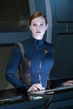 Discovery bridge crew member
