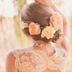 peach and green wedding inspiration (reader request) peach and soft yellow peac. - - peach and green wedding inspiration (reader request) peach and soft yellow peach and green wedding inspiration (reader request) peach and soft yellow Wedding Hairstyles For Long Hair, Wedding Hair And Makeup, Hair Makeup, Bridal Hairstyles, Hairstyles Haircuts, Stylish Hairstyles, Bridesmaid Hairstyles, Romantic Hairstyles, Crown Hairstyles