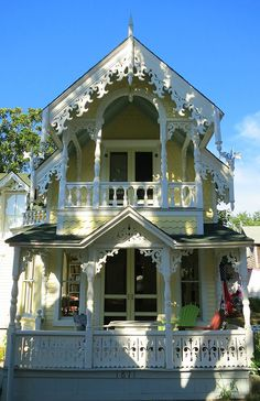 Cute Yellow Victorian Cottage