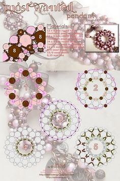 free bead weaving pattern #donut #pendant